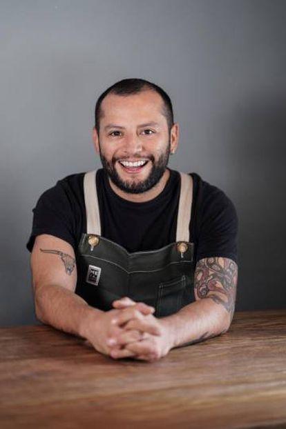 Iván Cadena en el restaurante Mesa Franca.