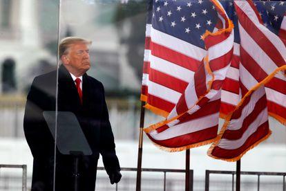 Donald Trump, al final de su mitin en Washington el pasado 6 de enero, día del asalto al Capitolio.