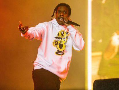 ASAP Rocky, en un concierto en los Países Bajos, el pasado agosto