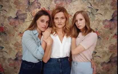 Las actrices de 'Les tres germanes', de Chéjov, dirigida por Manrique.