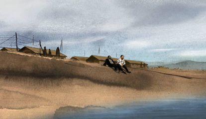 La playa de Argelès en la película 'Josep', de Aurel.