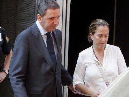 Florencia Maté, saliendo de la Audiencia Nacional el pasado 17 de julio.