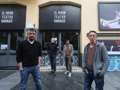 De izquierda a derecha, Jordi Buxó, Miguel del Arco, Israel Elejalde y Aitor Tejada, la semana pasada en el Pavón.
