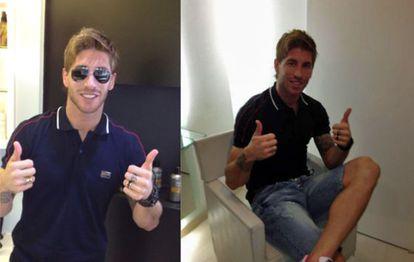 Sergio Ramos exhibe su nueva imagen a través de 'Twitter'.