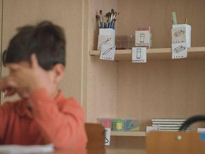 Imagen de archivo de 2001, de un alumno en un aula de Educación Especial.