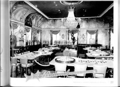 El casino del Hotel Nacional en Cuba.