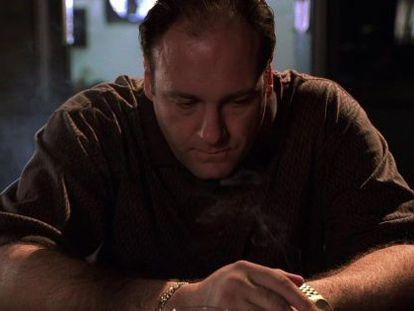 James Gandolfini en el papel de Tony Soprano