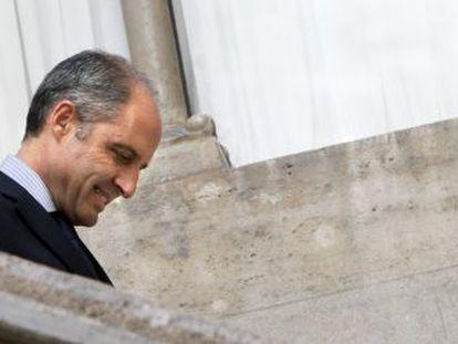 Francisco Camps, tras anunciar su dimisión