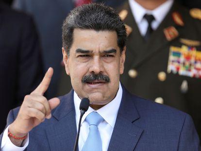 Nicolás Maduro durante una conferencia en Caracas, el pasado 12 de marzo.