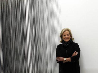 Patricia Phelps de Cisneros, en la exposición de su colección en el Reina Sofía, en Madrid, en 2013.