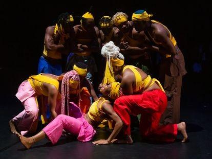 Una imagen del espectáculo de Qudus Onikeku.