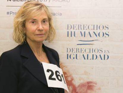 Carmen Valero con el dorsal 261, el jueves, en Madrid.