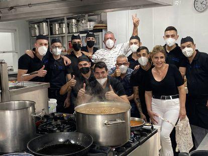 En las cocinas de Las Rejas. J.C. CAPEL