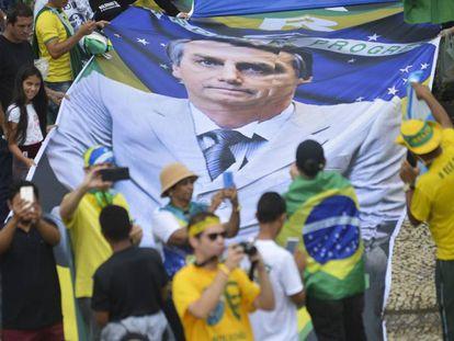 Seguidores de Bolsonaro, en Brasilia.