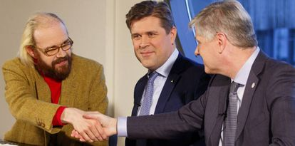 Los líderes de centro-derecha acuerdan el 10 de enero de 2017 formar un Gobierno de coalición en Islandia.