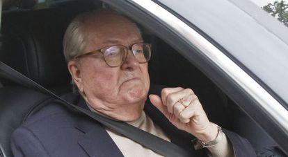 Jean-Marie le Pen, este lunes en Nanterre.