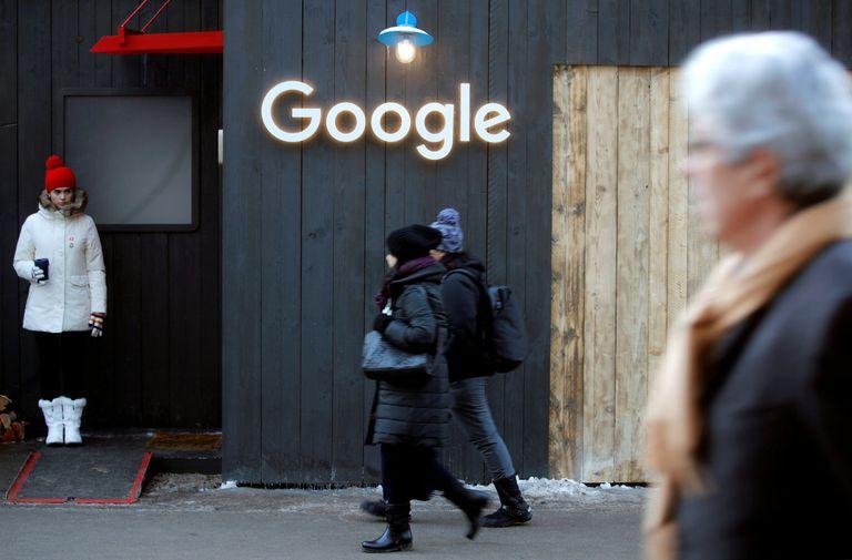 Logo de Google en Davos, Suiza, el pasado enero.