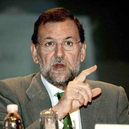 Mariano Rajoy, en su intervención ayer en el Congreso del Instituto de la Empresa Familiar en Mallorca.