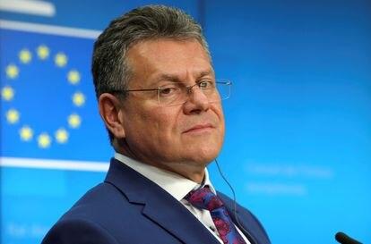 El vicepresidente de la Comisión Europea y responsable de las negociaciones sobre el Brexit, Maros Sefcovic.