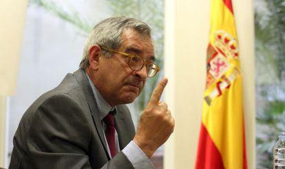 El presidente de la CNE, Alberto Lafuente, en un momento de la entrevista