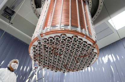 El detector inferior del experimento XENON1T.