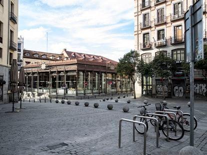 El mercado de San Miguel en marzo de 2020.