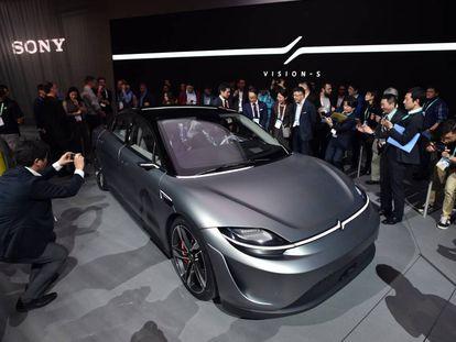 Presentación del Sony Vision S en el Salón CES, en Las Vegas (EEUU).