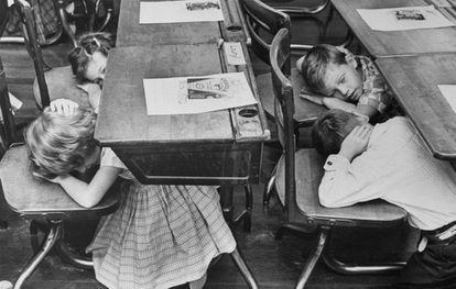 Simulacro en un colegio de Florida en 1962