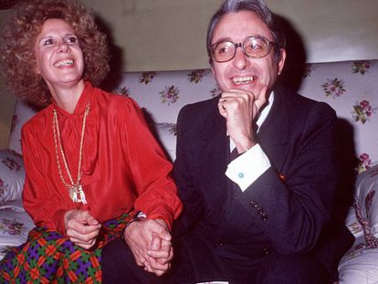La duquesa de Alba y Jesús Aguirre, en marzo de 1978.