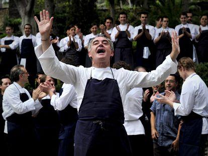 Ferran Adrià, durante los preparativos de la última cena de elBulli en julio de 2011.