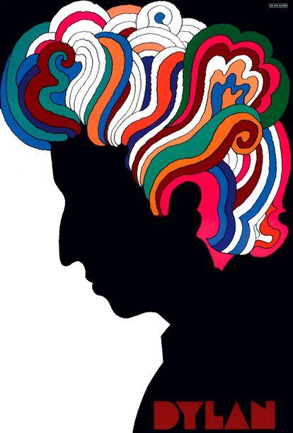 El cartel que Glaser realizó para Bob Dylan en 1967.