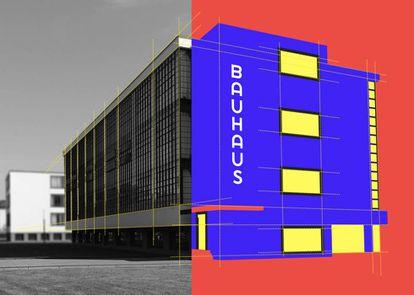 Edificio de la Escuela de la Bauhaus, de Walter Gropius (1925-1926), en Dessau (Alemania). |