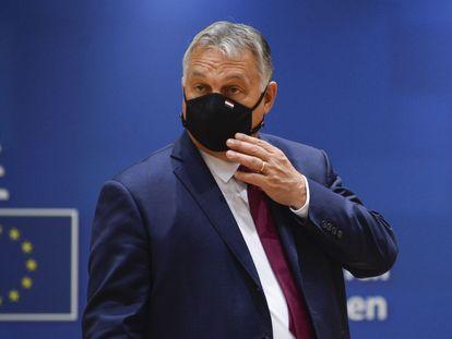 El primer ministro húngaro, Viktor Orbán, en Bruselas durante una reunión del Consejo europeo el 2 de octubre de 2020.