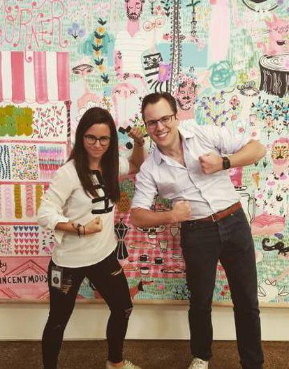 Con Mike Krieger, CTO de Instagram, en sus oficinas.
