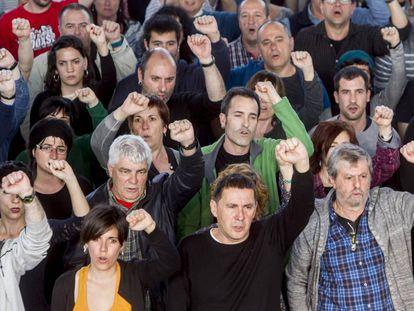 El dirigente de la izquierda abertzale Arnaldo Otegi en un acto político