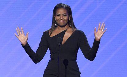 La ex primera dama de Estados Unidos Michelle Obama en julio de 2017.