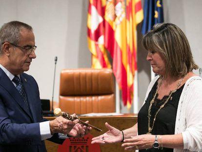 Nuria Marín, nueva presidenta de la Diputacion de Barcelona elegida tras un pacto entre PSC y Junts per Catalunya.