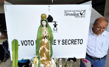 Votantes en el Estado de Tamaulipas (México).