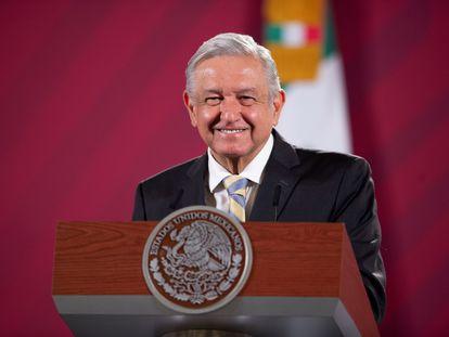 Andrés Manuel López Obrador durante su conferencia de prensa matutina.