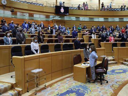 Inicio de la sesión de control celebrada el pasado martes en el Senado.