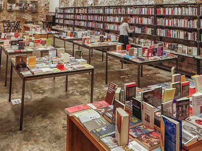 Aspecto de la librería Calders, en Barcelona.