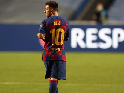 Messi, durante un partido del Barcelona la temporada pasada.