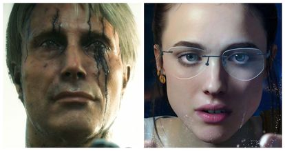 The digital recreations of Mads Mikkelsen and Margaret Qualley, in the game 'Death Stranding'.