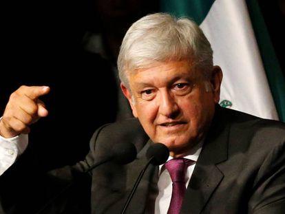 López Obrador, en el acto de este lunes.