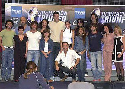 El equipo de profesores y presentadores de la tercera edición de <i>Operación Triunfo.</i>