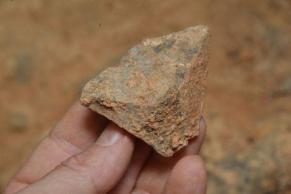 Una de las herramientas de hace 600.000 años halladas en la Gran Dolina de Atapuerca (Burgos).