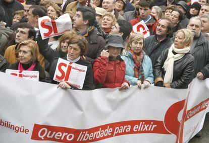 Manifestación de Galicia Bilingüe en 2009