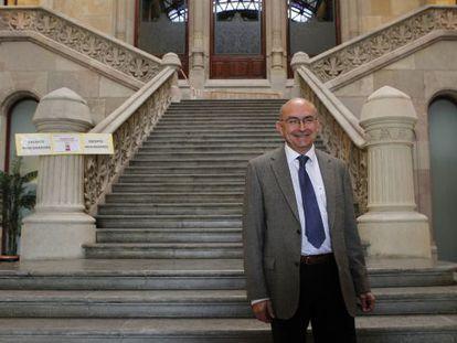 Miguel Ángel Gimeno, en una imagen de archivo, cuando era presidente del Tribunal Superior de Justicia de Cataluña.