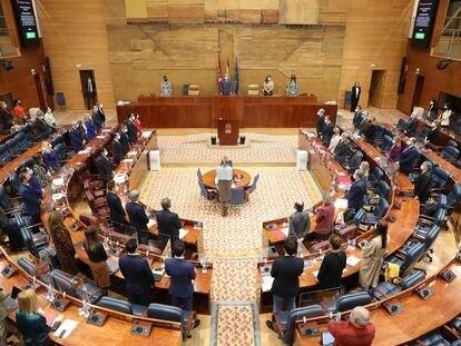 Vista general del pleno de la Asamblea de Madrid, el pasado 28 de enero.
