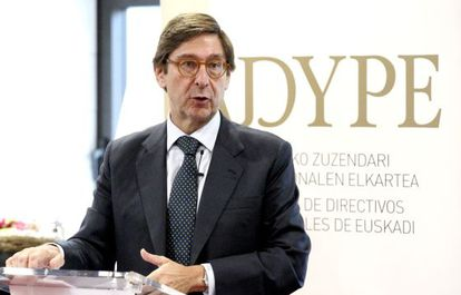 El presidente de Bankia, José Ignacio Goirigolzarri, en Bilbao
